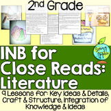 Close Reading Literature Interactive Notebook 2nd Grade