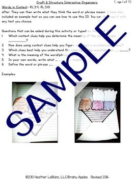 Close Reading Literature Interactive Notebook 3rd Grade
