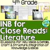 Close Reading Literature Interactive Notebook 4th Grade