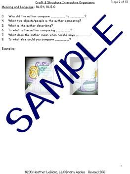 Close Reading Literature Interactive Notebook 5th Grade
