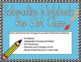 Interactive Notebook for Elementary to Middle School Art