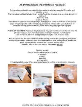 Interactive Notebook for Homeless Bird