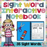 Sight Word Interactive Notebook for Kindergarten with Bonus Digital  Boom Cards