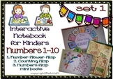 Interactive Notebook for Kinders - Set 1 (Numbers 1-10)