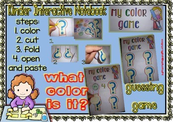 Interactive Notebook for Kinders - Set 2 (Colors)