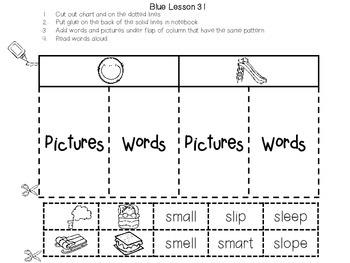 Interactive Notebook Leveled Literacy Intervention LLI Blue Level F 1st Edition