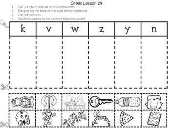 Interactive Notebook Leveled Literacy Intervention LLI Green Level B 1st Edition