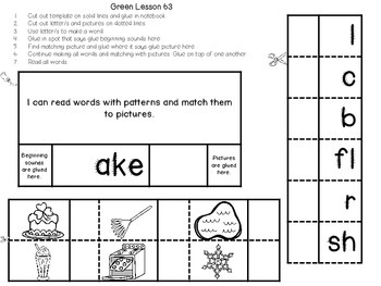 Interactive Notebook for Leveled Literacy Intervention LLI Green Level F