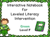 Interactive Notebook Leveled Literacy Intervention LLI Green Level F 1st Edition