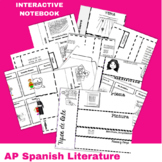 Interactive Notebook for Literature en español Bundle