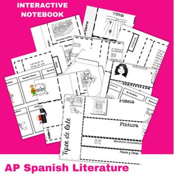 Interactive Notebook for Literature en español Bundle