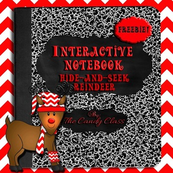 Interactive Notebook for Math Journal Entry: Hide-and-Seek Reindeer {Free}