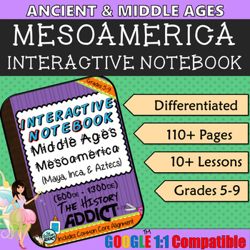 Interactive Notebook for Middle Ages (Ancient) Mesoamerica