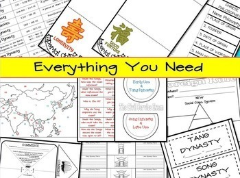 Interactive Notebook for Middle Ages China (Ancient China) ~ Common Core 5-9