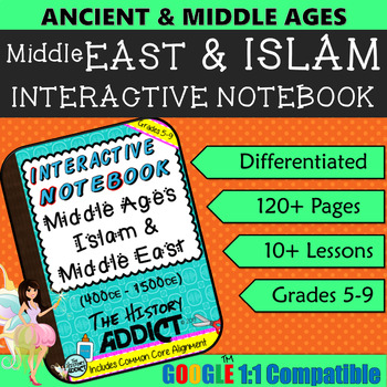 Interactive Notebook for Middle Ages Islam (Middle East) ~ Common Core 5-9