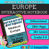 Interactive Notebook for Middle Ages (Medieval) Europe ~ Common Core 5-9