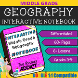 Interactive Notebook for Middle Grade Geography ~ Common Core 5-9