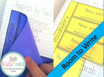Interactive Notebook Flip Flaps for Reading {Easy Start Pack}