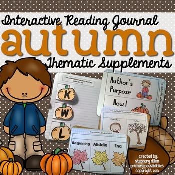 Interactive Notebook for Reading Themed Supplements {Fall}