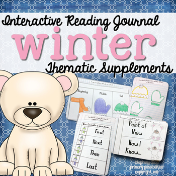 Interactive Notebook for Reading Themed Supplements {Winter}