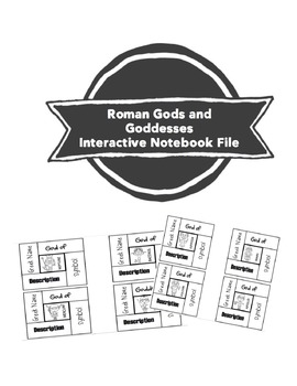 Interactive Notebook for Roman Gods and Goddesses