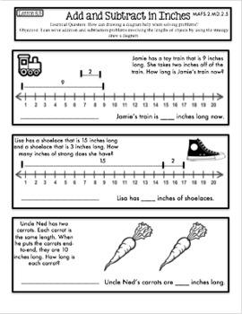 Interactive Math Notebook Second Grade Go Math Chapter 8