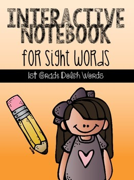 Interactive Notebook for Sight Words {1st Grade Dolch Words}