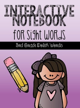 Interactive Notebook for Sight Words {3rd Grade Dolch Words}