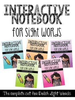 Interactive Notebook for Sight Words BUNDLE {220 Dolch Words}