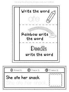 Interactive Notebook for Sight Words {Primer Dolch Words}