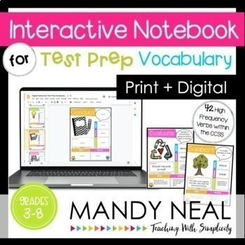Math Test Prep and Reading Test Prep Vocabulary | Distance Learning