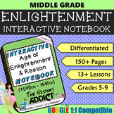 Interactive Notebook for the Age of Enlightenment & Reason ~ Common Core 5-9