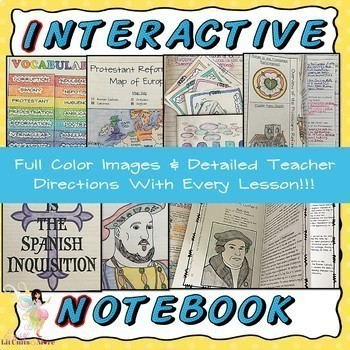 Interactive Notebook for the Protestant Reformation ~ Common Core 5-9