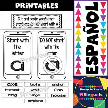 Interactive Notebook in English - Letter A - FREEBIE