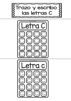 Interactive Notebook in Spanish - Letter C