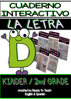 Interactive Notebook in Spanish - Letter D