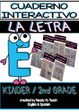 Interactive Notebook in Spanish - Letter E