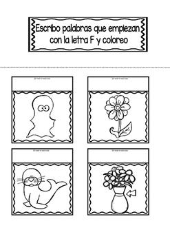 Interactive Notebook in Spanish - Letter F
