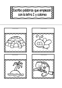 Interactive Notebook in Spanish - Letter I