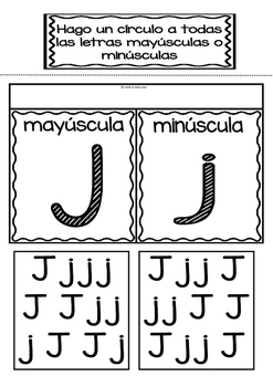 Interactive Notebook in Spanish - Letter J