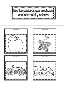 Interactive Notebook in Spanish - Letter M