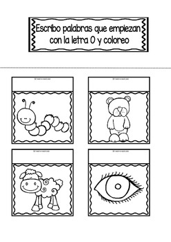 Interactive Notebook in Spanish - Letter O