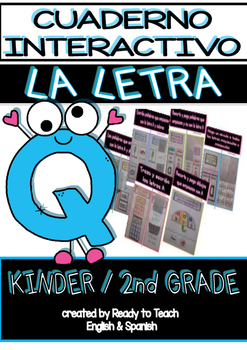Interactive Notebook in Spanish - Letter Q