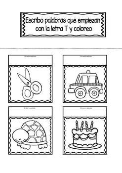 Interactive Notebook in Spanish - Letter T