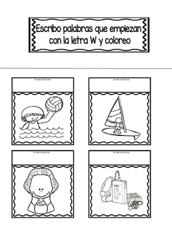 Interactive Notebook in Spanish - Letter W