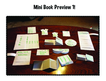 Interactive Notebook or Lapbook Mini Books Pack