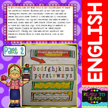 Interactive Notebook (the alphabet, vowels, consonants, lower and uppercase)