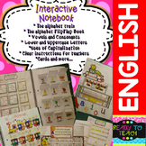 Interactive Notebook (the alphabet, vowels, consonants, lo