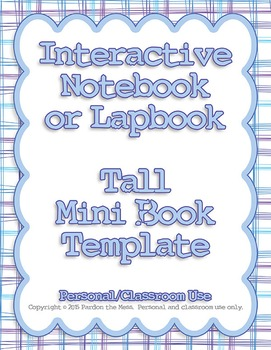 Interactive Notebook/Lapbook Tall Mini Book Template