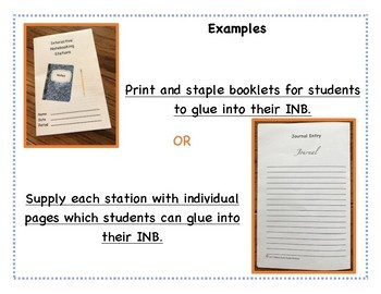 Interactive Notebooking Stations